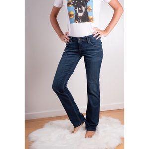 Hudson Straight Leg Back Flap Pocket Jeans Size 26